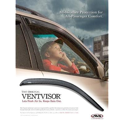 Auto Ventshade 92741 Original Ventvisor Side Window Deflector Dark Smoke, 2-Piece Set for 2004-2014 Ford F-150 SuperCab & 2009-2014 F-150 Standard & SuperCrew | Also fits 2010-2014 Raptor SuperCrew: Automotive