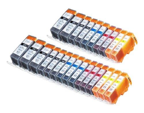 25 Pack Compatible Canon CLI 221 , CLI-221 , CLI221 , PGI 220 , PGI-220 , PGI220 5 Small Black, 5 Cyan, 5 Magenta, 5 Yellow, 5 Big Black for use with Canon PIXMA Ip3600, PIXMA Ip4600, PIXMA Ip4700, PIXMA MX860, PIXMA MX870. PIXMA Ip 3600, PIXMA Ip 4600, P