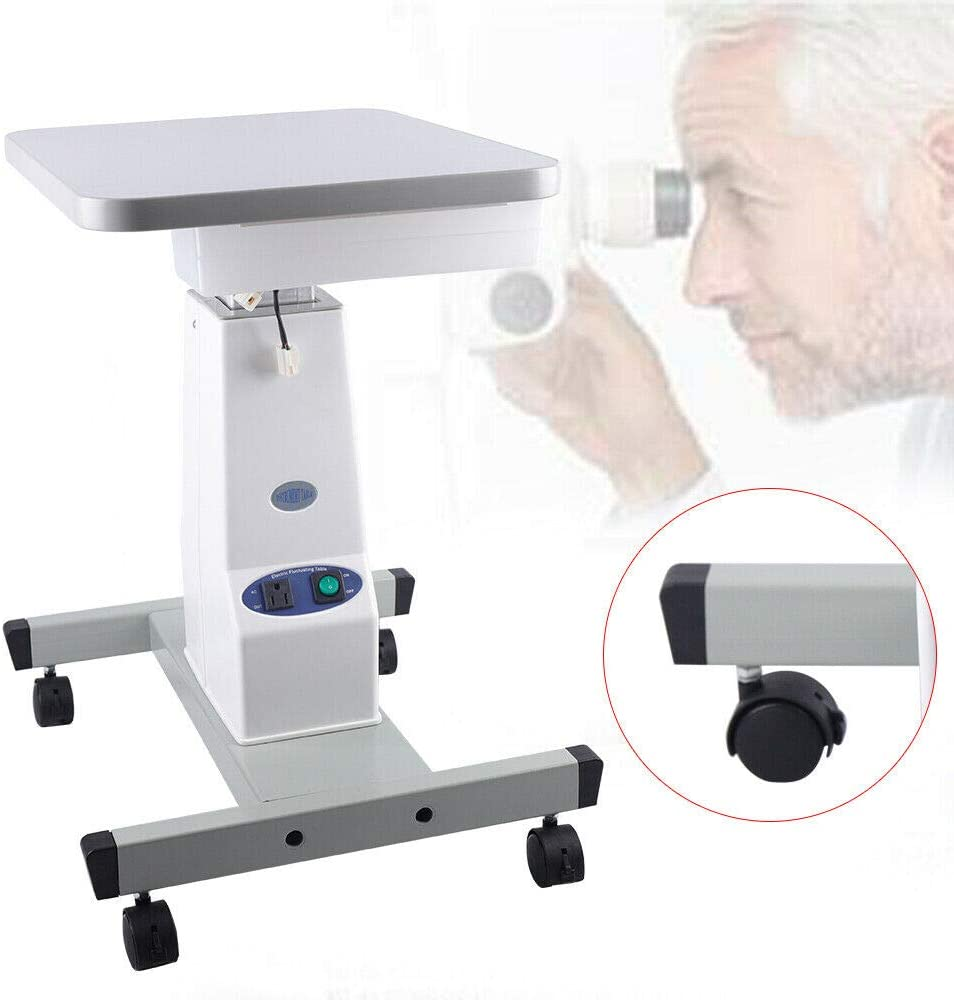 TFCFL Electric Work Table Mobile Table Optometry Lift Stand Ophthalmic Work Equipment AC Motor
