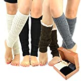 TeeHee Gift Box Women's Fashion Leg Warmers 4-Pack Assorted Colors (Assorted A)