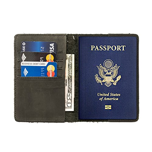 Passport Holder Handmade by Hide & Drink :: Smoke