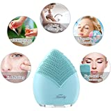Hairby Facial Cleansing Brush, Silicone Face Brush Sonic Electric Face Cleanser Negative Ions Massager System for Skin Clean