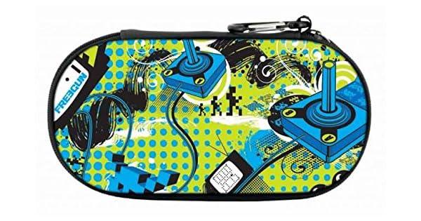 Bigben Interactive FREEGUN Funda Sony Azul, Verde, Blanco - Fundas para consolas portátiles (Funda, Sony, Azul, Verde, Blanco, PlayStation Vita, Sony PlayStation Vita Slim, Sony PSP, Resistente al polvo, Resistente a rayones,