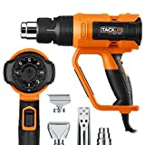 TACKLIFE Heat Gun 1600W Adjustable Hot Air Gun with 7 Heat Levels 3 Temp-Settings 122℉~1112℉(50℃~600℃), Four Nozzle Attachments for DIY, Cars Wrapping, Stripping Paint, Decor Removal, Shrinking PVC, PCB Repair | HGP73AC