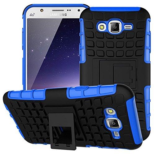 Nnopbeclik Samsung Galaxy S3 / S3 Neo Hülle, Dual Layer Rugged Armor stoßfest Handy Schutzhülle Silikon Tasche für Samsung Galaxy S3 / S3 Neo - Blau + 1x Display Schutzfolie Folie