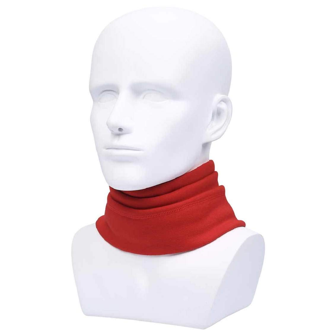 Red, One Size Heekpek Neck Warmer Loop Face Scarf Men Multifunctional Headwear Snood Scarf Adjustable Face Warmer Neck Warmer Unisex Thick Neck Tube Scarf Neck Warmer Motorcycle