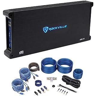 Sale Rockville dB45 3200 Watt/1600w RMS 4 Channel Car Stereo Amplifier+Amp Kit Loud !
