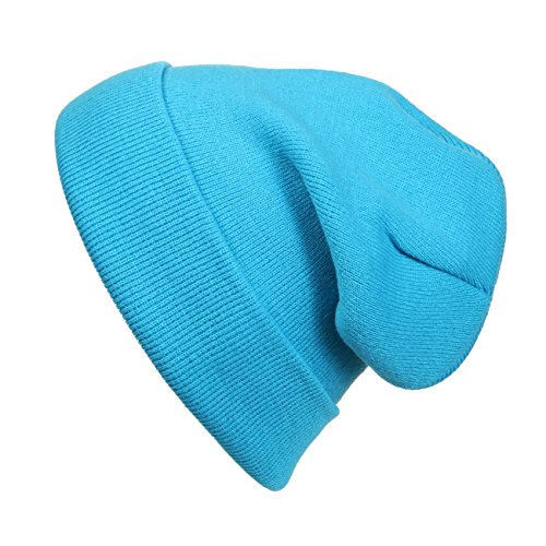 Cap911 Unisex Plain 12 inch long Beanie - Many Colors (One Size, Aqua Blue) for $<!--$4.89-->