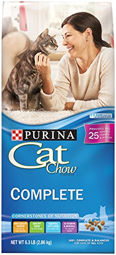 Purina Cat Chow Complete Dry Cat Food - 6.3 Lb. Bag