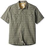 Quiksilver Waterman Men's Wake Uv Protection Button Down Shirt, Beetle Wake, M