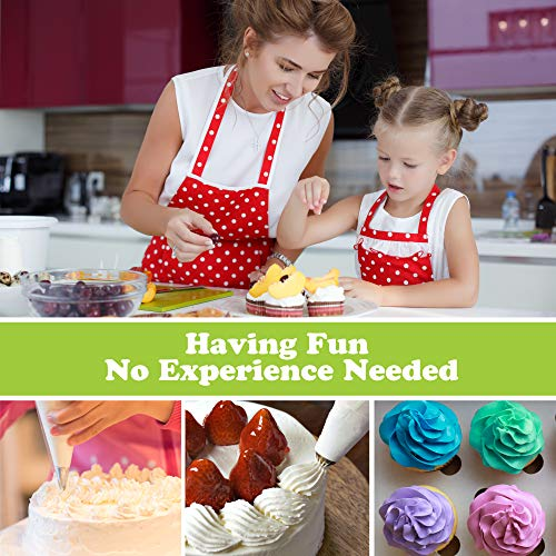 Cake Decorating Supplies Kit with Cake Turntable - Baking kit - Silicone Offset Spatula - Pastry Bags - Icing Tips - Cupcake Decorating Kit with Easy Nozzle Set - Professional Tools for Beginners by Happy Hour Bake (Image #7)