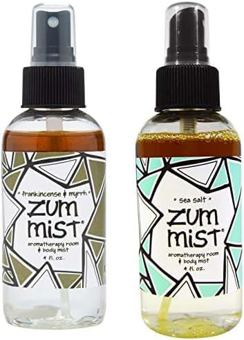 Indigo Wild Zum Mist Frankincense & Myrrh and Sea Salt Mist Body Spray 4 fl. oz. each, 2 Pack