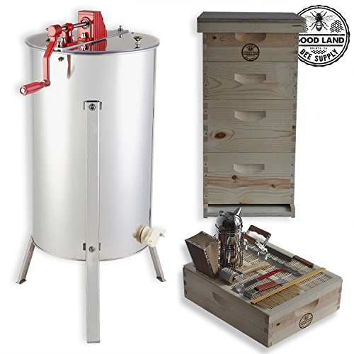 Goodland Bee Supply® 2 Frame Honey Super Extractor and Complete 4 ...