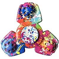 STRESS SPINNER Colorful Camo Fidget Tri Hand Spinning...