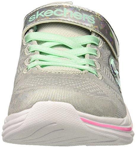 Fille Skechers Kicks light Dance shimmer Gris Grey Quick multicolour Baskets 7w7rqXx