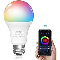 Smart lamp WiFi gloeilamp 9W E27 LED RGB lamp is compatibel met Alexa Google Home en Siri, geen hub nodig, dimbare…