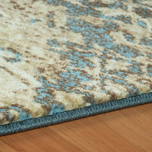 Superior Zedler Collection Area Rug, 10mm Pile Height with Jute Backing, Fashionable and Affordable Rugs, Vintage Oriental Patchwork Rug Design – 4 x 6