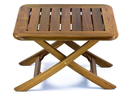 Round Slat Top (Whitecap Teak Adjustable Slat Top Table, Small)