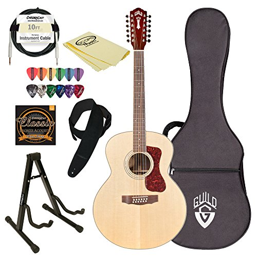 guild-f-1512e-nat-natural-jumbo-acoustic-electric-guitar-with-guild-hard-case-chromacast-strings-sta