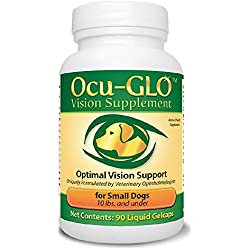 Ocu-GLO Canine Vision Supplement for Small Dogs 10 lb and Under-90 Liquid Gel Caps
