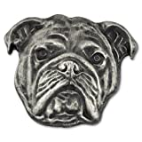PinMart's Silver 3D English Bulldog Dog Breed Dog Lover Lapel Pin