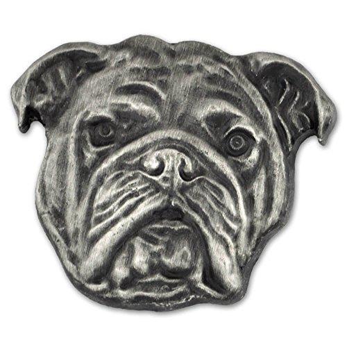 - PinMart Silver 3D English Bulldog Dog Breed Dog Lover Lapel Pin