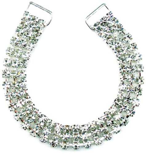 (Mode Beads 3-Row 8-Inch Rhinestone Connector, Long, Crystal/Silver)