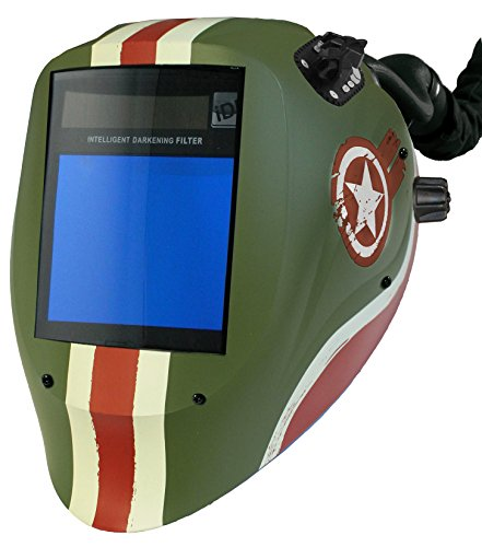 "ArcOne AP-IDF81-1555 Vision Welding Helmet with 5 x 4"" Intelligent Auto-Darkening Filter and AirPlus PAPR System, Tank"