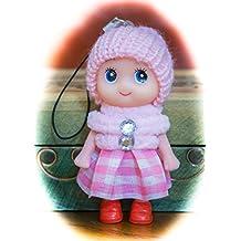 Cute Snug Cozy Doll Wool Pompom Toy Charm Keyring Keychain Key Chain