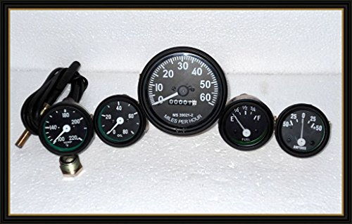 JEEP Willys Speedometer 12 V Kit for fits in-> 1946-66 CJ-2A, 3A, 3B,M38, M38A1MB, GPW, CJ2A, CJ3A and early CJ3B Jeeps ()
