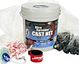 Fitec GS1000 Ultra Spreader Cast Net Clear 8' radius, 1' mesh, 1 Lb wts