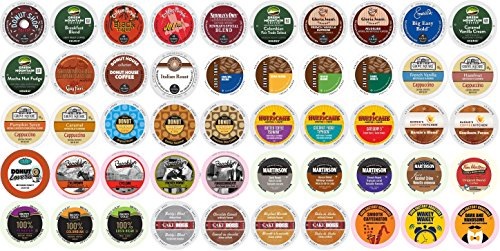 K-cup for Keurig Brewers, Regular & Flavored Coffee Variety Pack (50-count) Toffee Flavored Regular Coffee