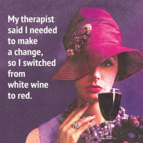 - My Therapist Said Cocktail Napkins - Fun Classy Design for Wine Drinkers, 20 Beverage Napkins