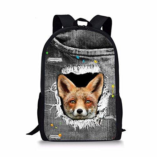 1 Cartable Fox Fox Chaqlin Moyen 6 Noir aZ67wt