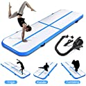 fastUU Inflatable Gymnastics Air Track Tumbling Mat with Electric Pump