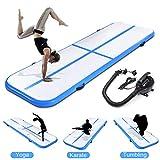 fastUU Inflatable Gymnastics Air Track Tumbling Mat with Electric Pump for Practice Gymnastics,Cheerleading,Tumbling,Yoga,Taekwondo