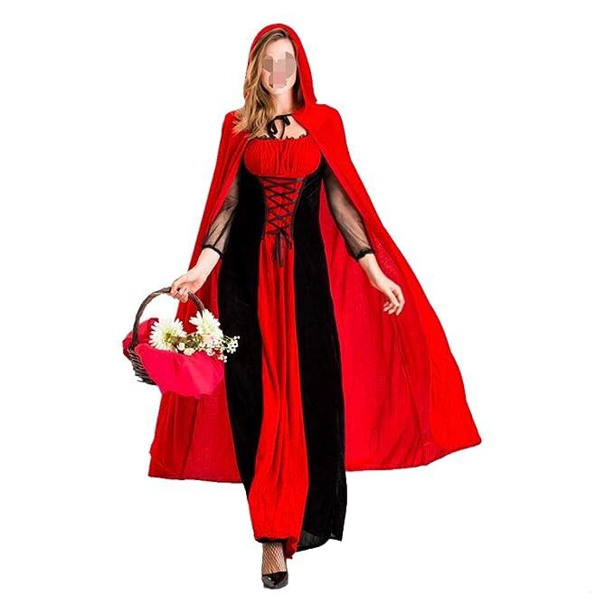 Disfraces de Halloween-Shenyi Disfraz de Caperucita Roja for mujer ...