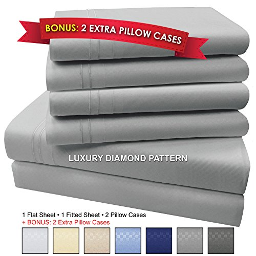 My Perfect Nights 6 Pc MPN Microfiber Sheets (Queen, Light (Elegance Night Light)