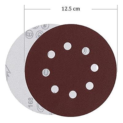 Rovtop Schleifpapier 125mm klett für schleifscheiben Ø exzenterschleifer 70 pcs 125 mm 40/60/80/100(10 Scheiben pro…