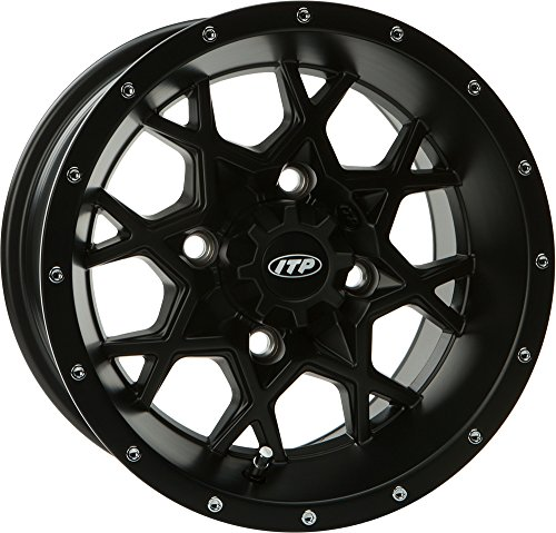 - ITP Hurricane Matte Black Wheel with Machined Finish (14x7