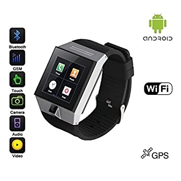 Amazon.com: Android ultra-smartwatch (Negro Caso, correa ...