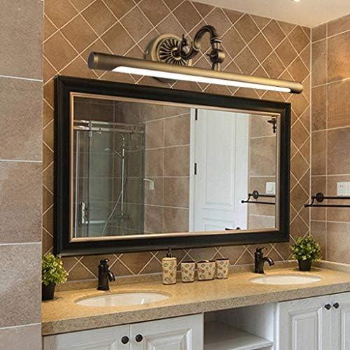 WJLL Spiegelleuchte LED Badezimmerspiegel Schranklampe europäische kupferne Badezimmerspiegelleuchte wasserdicht beschlagfreie Badbeleuchtung Spiegelleuchte warmweißes Licht,10W58cm