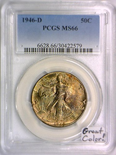 1946 D Walking Liberty Half Dollar MS-66 PCGS