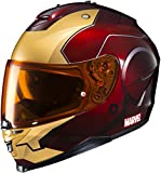 HJC Helmets Marvel IS-17 Unisex-Adult Full Face IRONMAN Street Motorcycle Helmet (Red/Yellow, Medium)