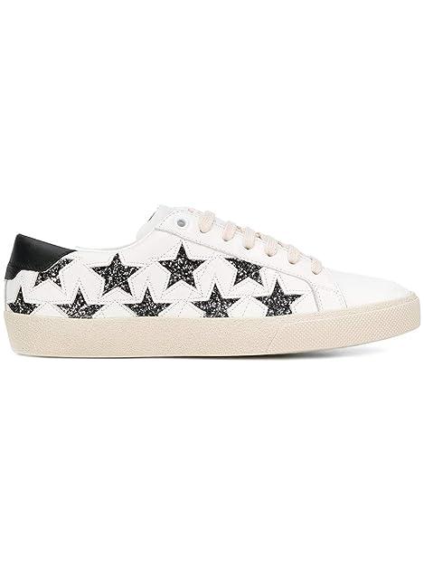6d8f4a4c69 Saint Laurent Sneakers Donna 5278400M5C09290 Pelle Bianco: Amazon.it ...
