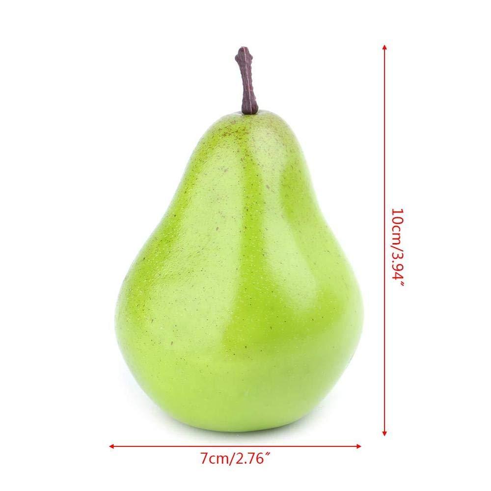 5pcs Uteruik Artificial Pear Decor Realistic Fake Fruit Home Party Festival Decoration Props