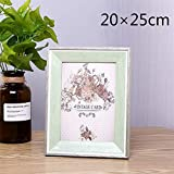 Huhgue Photo Frame Approx.20×25cm Picture Frame Retro Style Poster Frame for Home Decoration (Green)