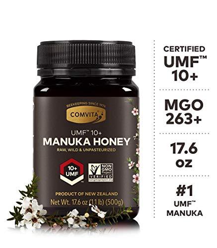 Comvita Certified UMF 10+ (MGO 263+) Raw Manuka Honey INew Zealand's #1 ManukaBrand I Authentic, Wild, Unpasteurized,Non-GMO SuperfoodI Premium Grade I17.6 oz (Super Honey)