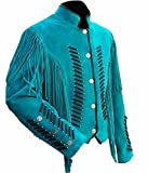 Product review for SleekHides Women's Western Leather Coat Turquoise