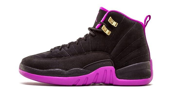 outlet store 1e31a 9ca39 Amazon.com   Jordan Air 12 Retro GG Big Kid s Shoes Black Metallic Gold  Violet 510815-018   Basketball
